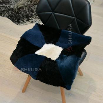 Накидка на стул из овчины 11
