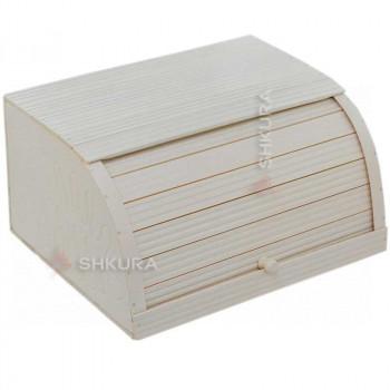 Хлебница деревянная С03. Белая