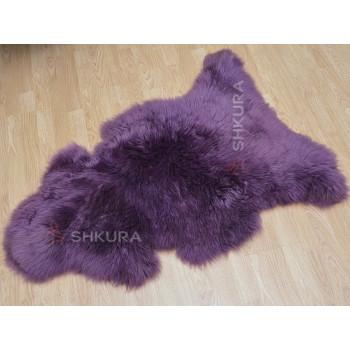 Овечья шкура фиолетовая, крашеная