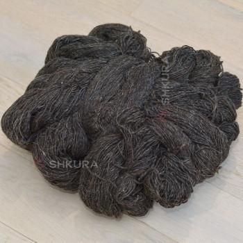 Шерстяные нитки. Черные. 1 кг