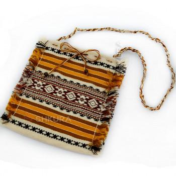 Тканевая женская сумка. Оранжевая