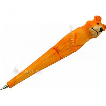 """Деревянная ручка """"Медведь"""""""