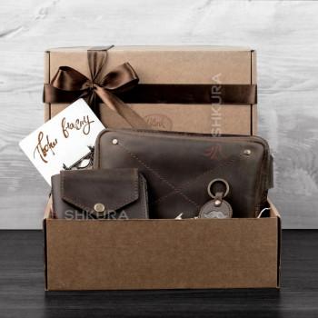 Подарочный набор кожаных аксессуаров Орландо