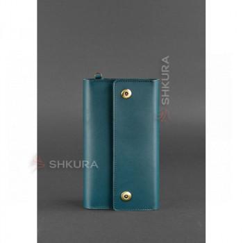 Кожаный женский клатч-органайзер (Тревел-кейс) 5.0 зеленый
