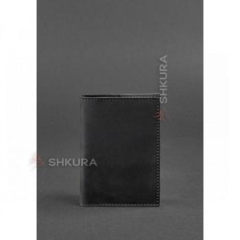 Кожаная обложка для паспорта 1.2 черная