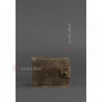 Кожаное портмоне 4.3 темно-коричневое