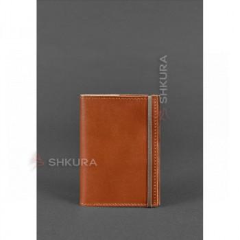 Кожаная обложка для паспорта 1.0 светло-коричневая