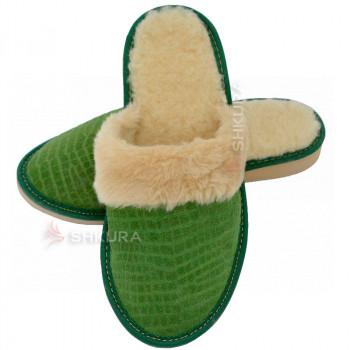 Тапочки женские зимние, ЗВО2. Зеленые