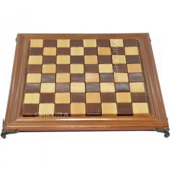 Шахматная доска, 40х40 см. Дерево, светлая