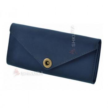 Женский кожаный кошелек Керри 1.0 синий