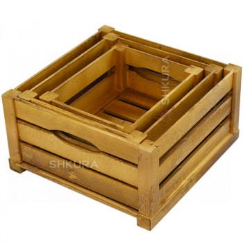 Набор деревянных ящиков. Дуб