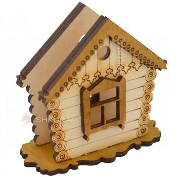 Деревянная салфетница 05. Дом