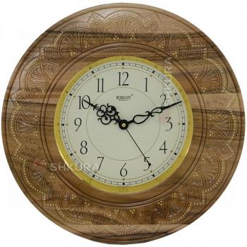 """Часы """"Солнце"""", XL, светлые, медь"""