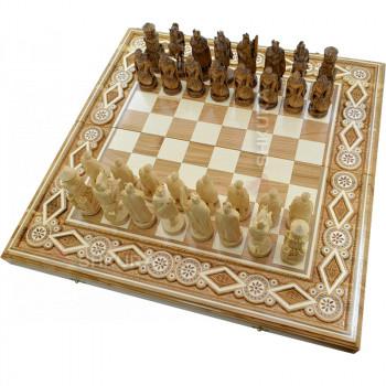 """Шахматы """"Рыцари"""". 60х60 см. Бисер"""