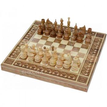 Шахматы 3 в 1. 44х44 см