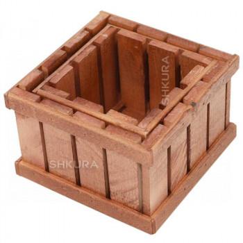 Набор деревянных ящиков, 2 шт. Вишня