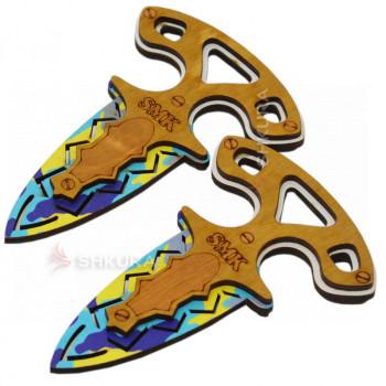 """Деревянный нож """"Тычковый"""", цветной"""