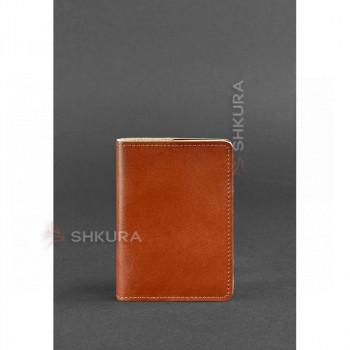 Кожаная обложка для паспорта 1.3 светло-коричневая