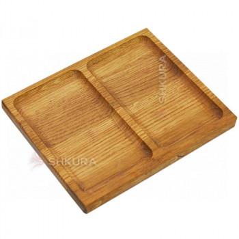 Доска для подачи блюд, 2 секции. Д12