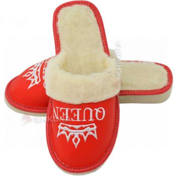 Тапочки женские зимние, ШВО02. Красные