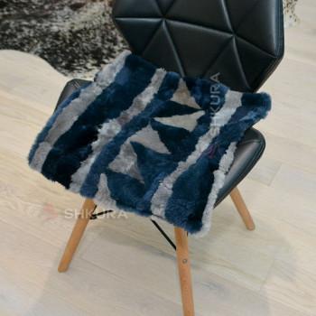 Накидка на стул из овчины 02