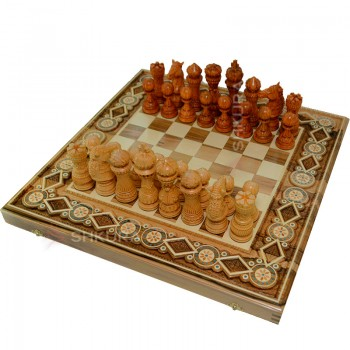 """Шахматы """"Гамбит"""" 60х60 см. Бисер"""