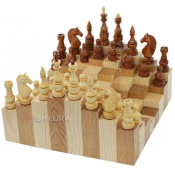 Трехмерные шахматы. 36х36 см