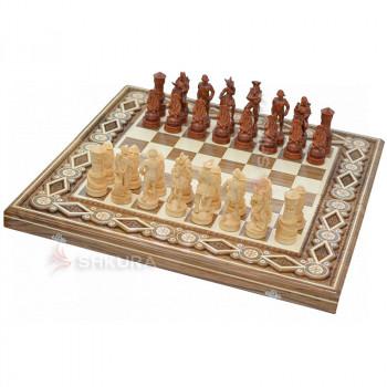 """Шахматы """"Пираты Карибского моря"""" 60х60 см. Бисер"""