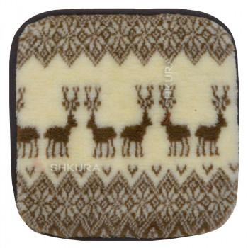 Накидка на стул из шерсти, новогодняя