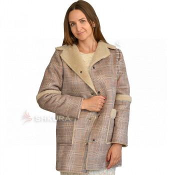 Женская куртка из овчины, дубляж