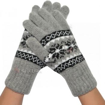 Женские перчатки из ангорской шерсти 03