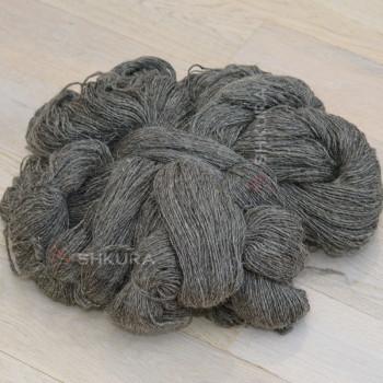 Шерстяные нитки. Темно серые. 1 кг