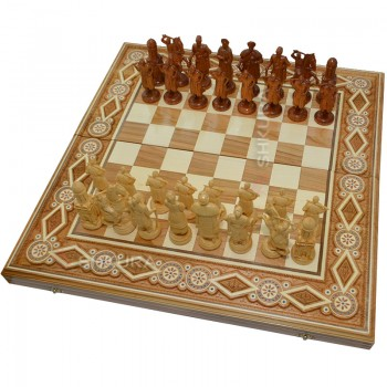 """Шахматы """"Казаки"""", 60х60 см. Бисер"""
