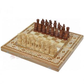 """Шахматы """"Пираты Карибского моря"""" 50х50 см. Бисер"""