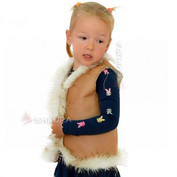 Детская меховая жилетка. Коричневая