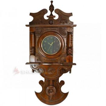 """Часы с маятником """"Венеция"""", темные, темный циферблат"""