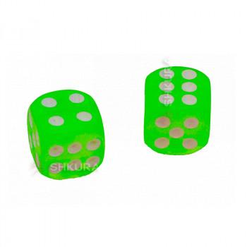 Игральные кости, 14 мм. Зеленые