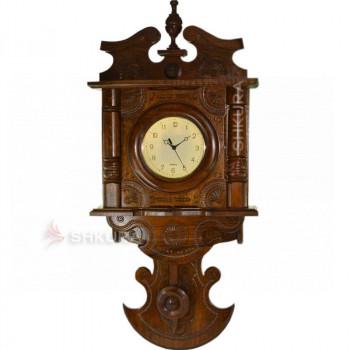 """Часы с маятником """"Венеция"""", темные, светлый циферблат"""