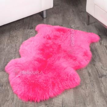 Овечья шкура розовая, крашеная