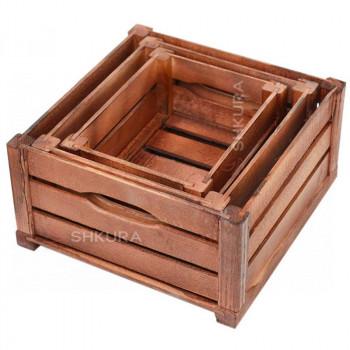 Набор деревянных ящиков. Вишня