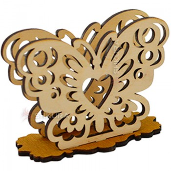 Деревянная салфетница 15. Бабочка