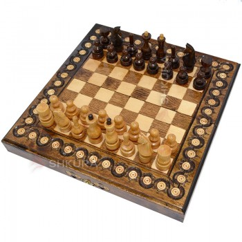 Шахматы + Нарды, 32х32 см. Инкрустация