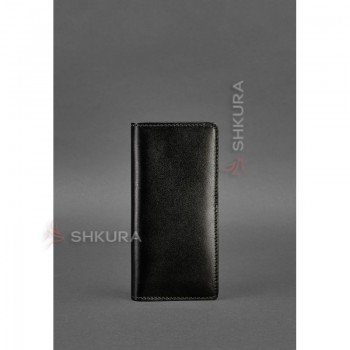 Кожаное портмоне-купюрник 11.0 черное Краст