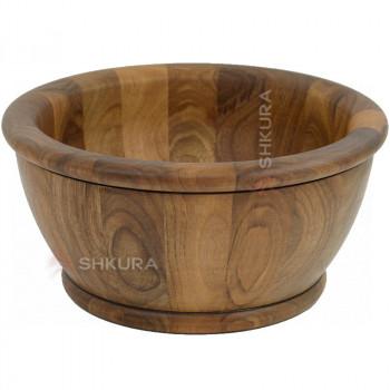 Деревянная тарелка 26 см. Глубокая