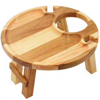 Винний столик на 2 келихи. 30 см