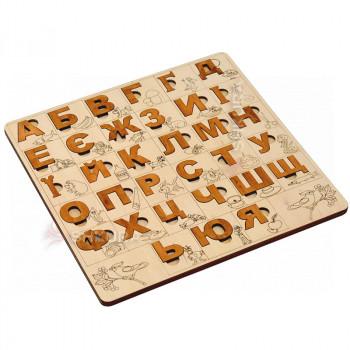 Деревянная азбука пазл 03