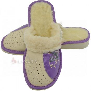 Тапочки женские зимние, ШВО19. Фиолетовые
