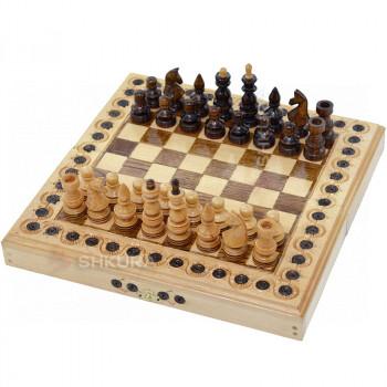 Шахматы + Нарды, 32х32 см. Инкрустация, светлые