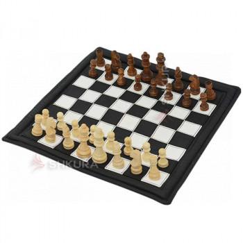 Шахматы 38х38 см. Еко кожа. Тубус