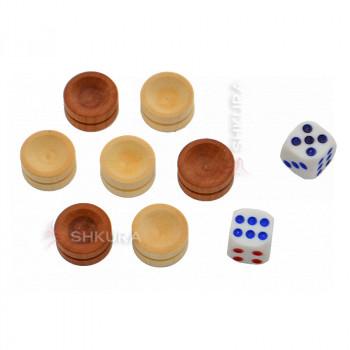 Фишки для нард + кубики, 18 мм
